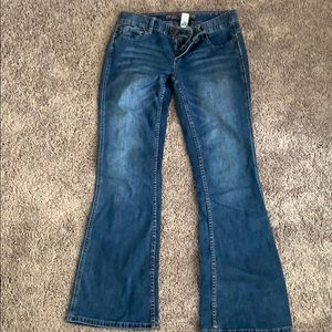 Low rise maurices boot cut jeans